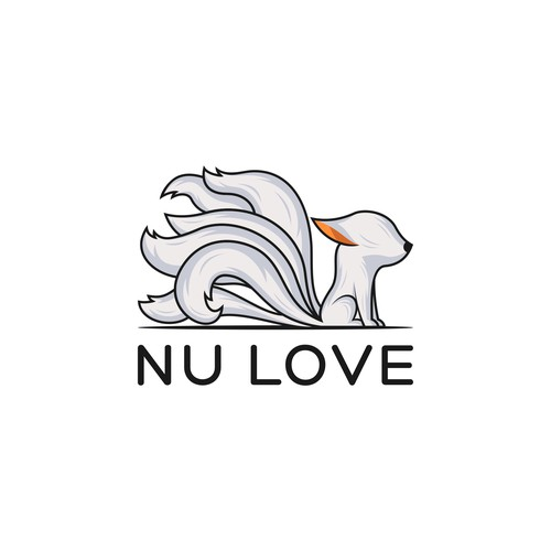 Nine tailed fox logo design for Nu Love