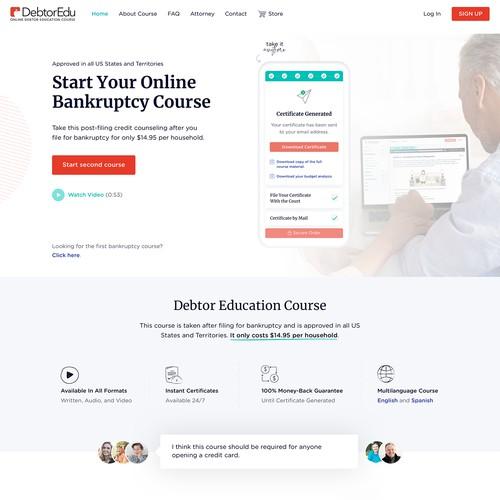 DebtorEdu Second Bankruptcy Course Web Design
