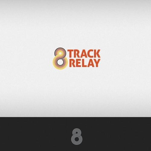Music Festival Running Relay Event Logo