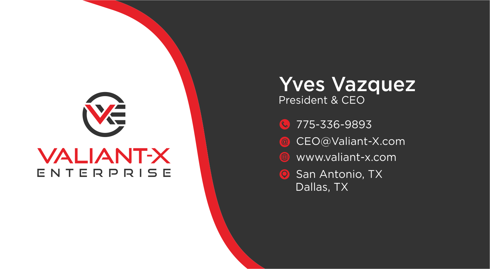 VXE Business Card and Letterhead Documents