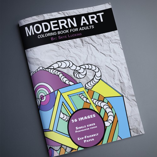 Modern Art Coloring book POP for Grown Up Shoppers