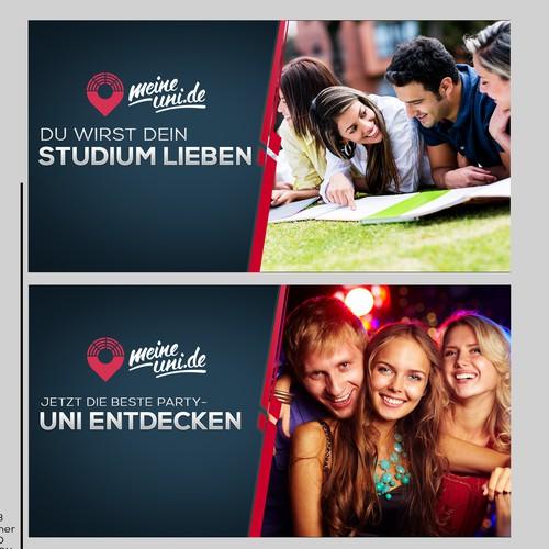 Stunning ad banner for new university website