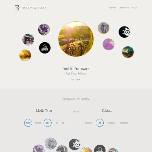 Design framework to organize visual inspirations for creative professionals like you.
