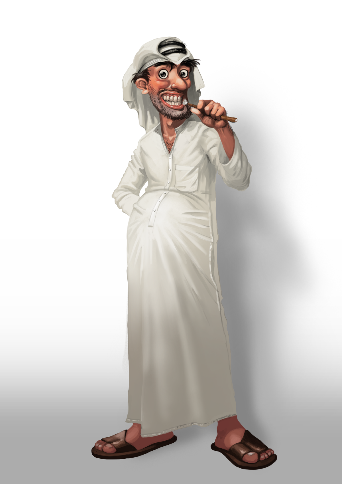 Funny Arab Characters Creation needed ( Arabian Gulf Region ). I have a clear Idea and samples.