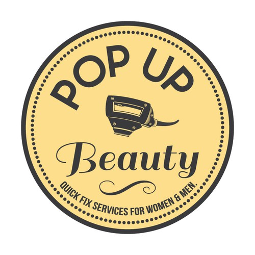 Pop Up Beauty - Create a vintage illustration to be included within our logo - (change the image of the dryer).