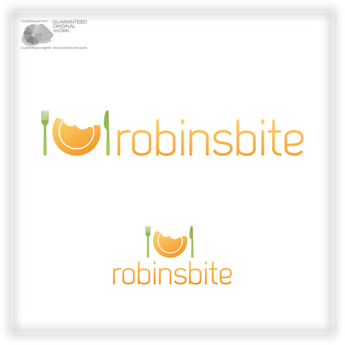 Create the next logo for Robinsbite, Robin Plotkin, Culinary & Nutrition Expert, Robinsbite (blog)