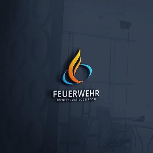 Feuerwehr Fredersdorf Vogelsdorf logo design