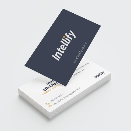 Business card for Intellify