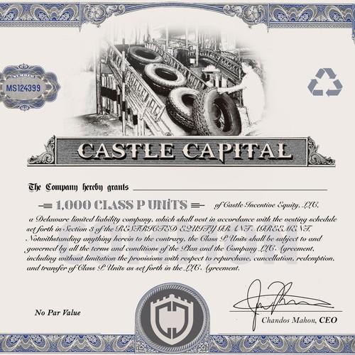 Castle Capital company's stock certificate