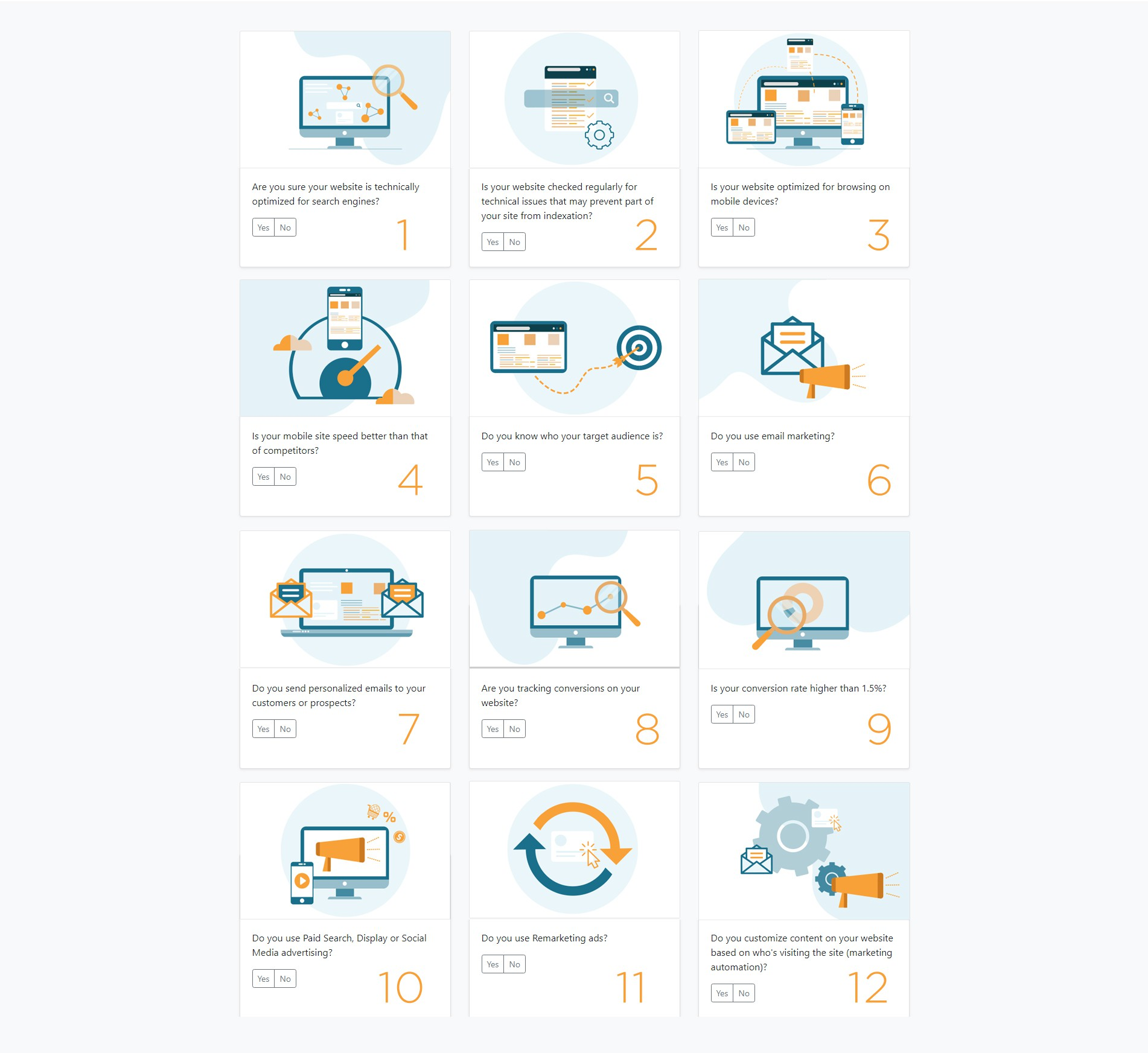 Thumbnail icons for website tool