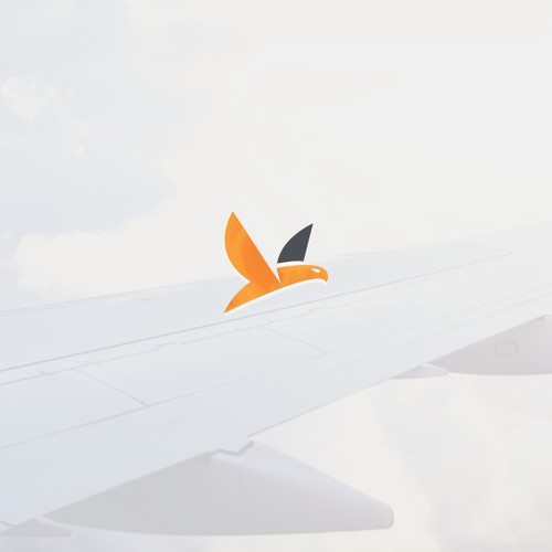 Minimal aviation logo