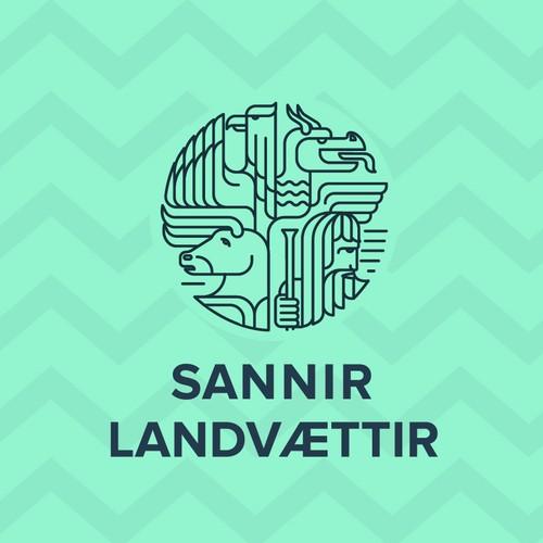 Logo design of Sannir Landvættir