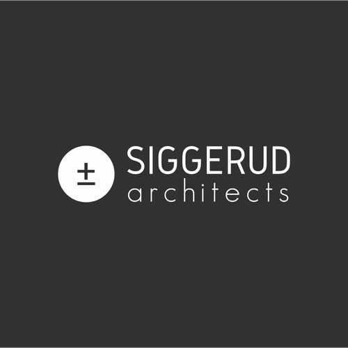Logo for Siggerud architects firm.