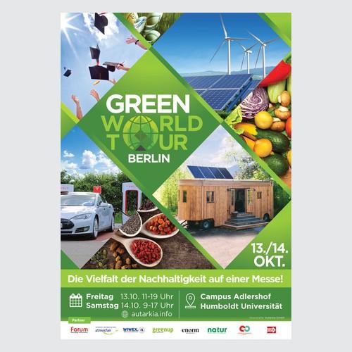 Poster Design GREEN WORD TOUR Berlin