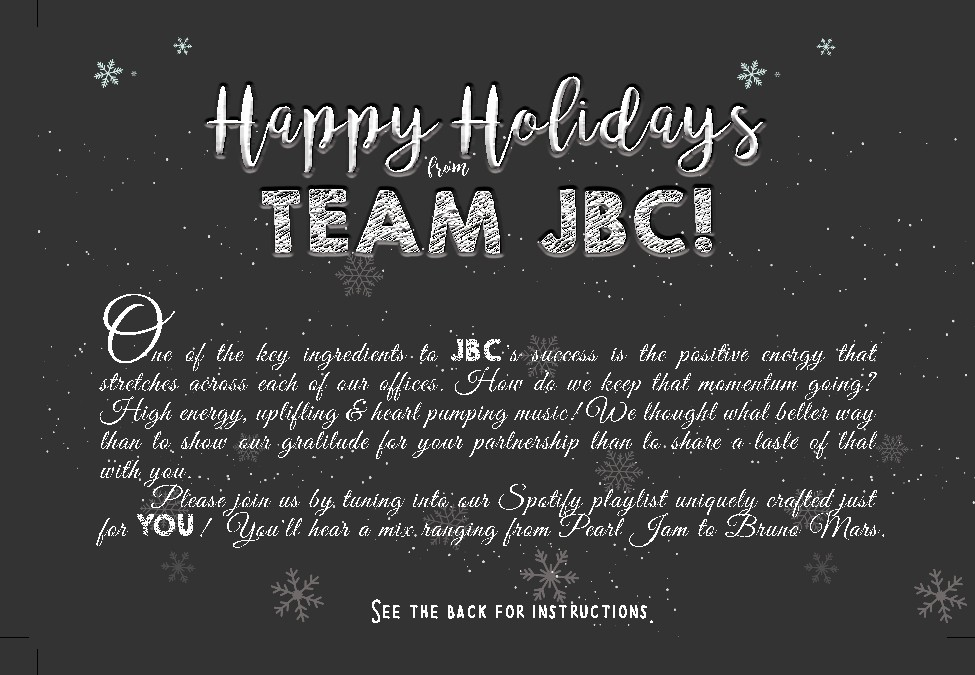Team JBC Holiday Cards