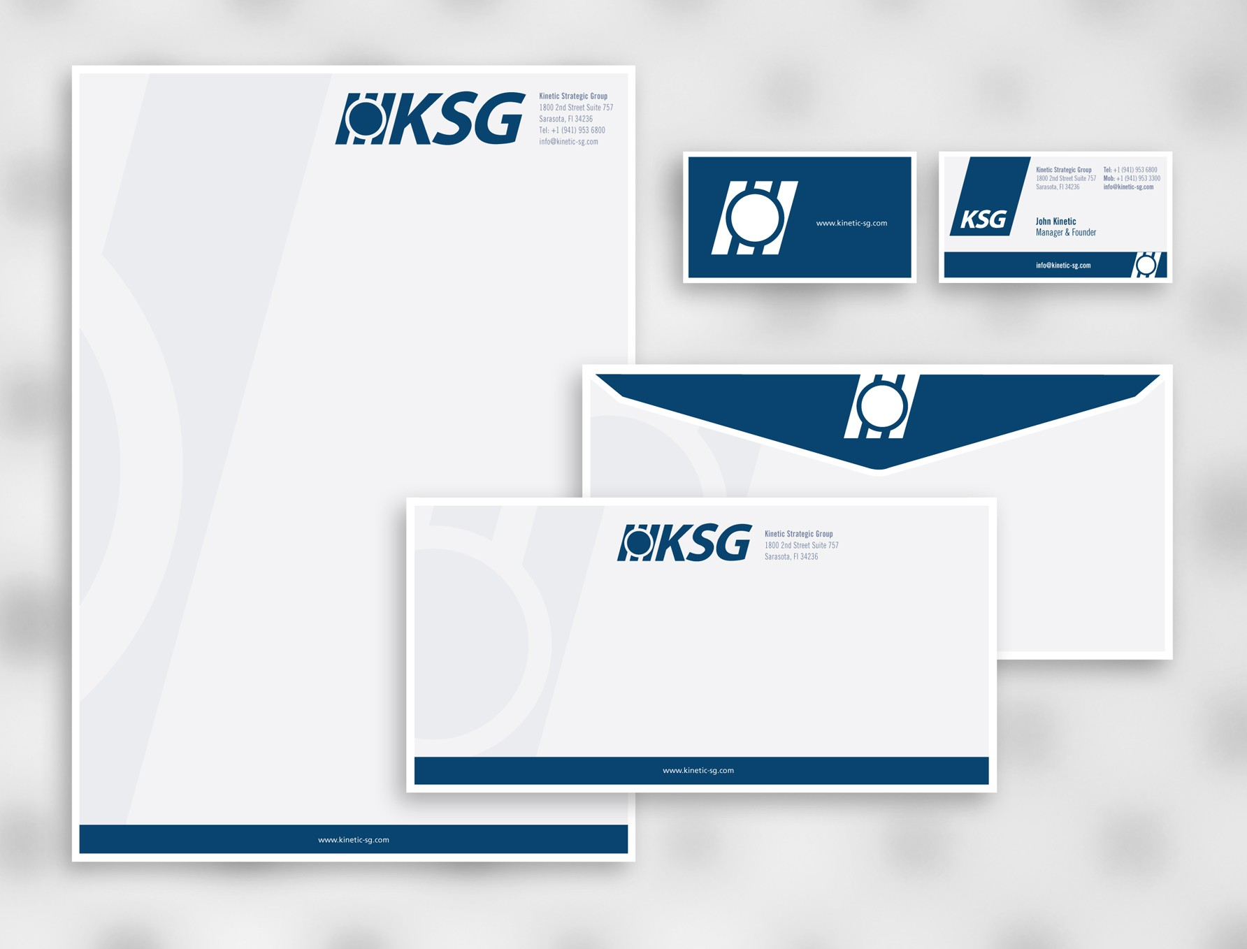 stationery for Kinetic Strategic Group www.kinetic-sg.com