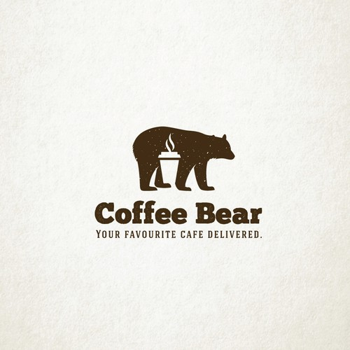 """Create a quirky and fun """"bear and coffee"""" themed Logo design"""