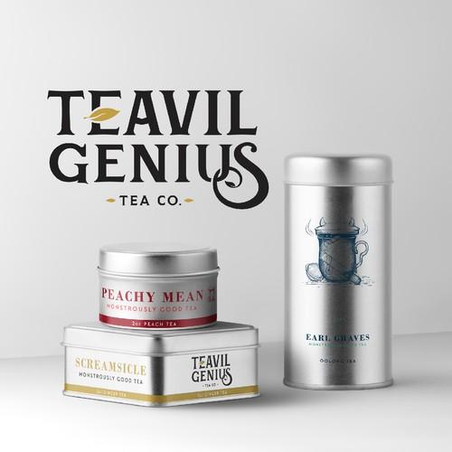 Natural Tea Tin Packaging Set