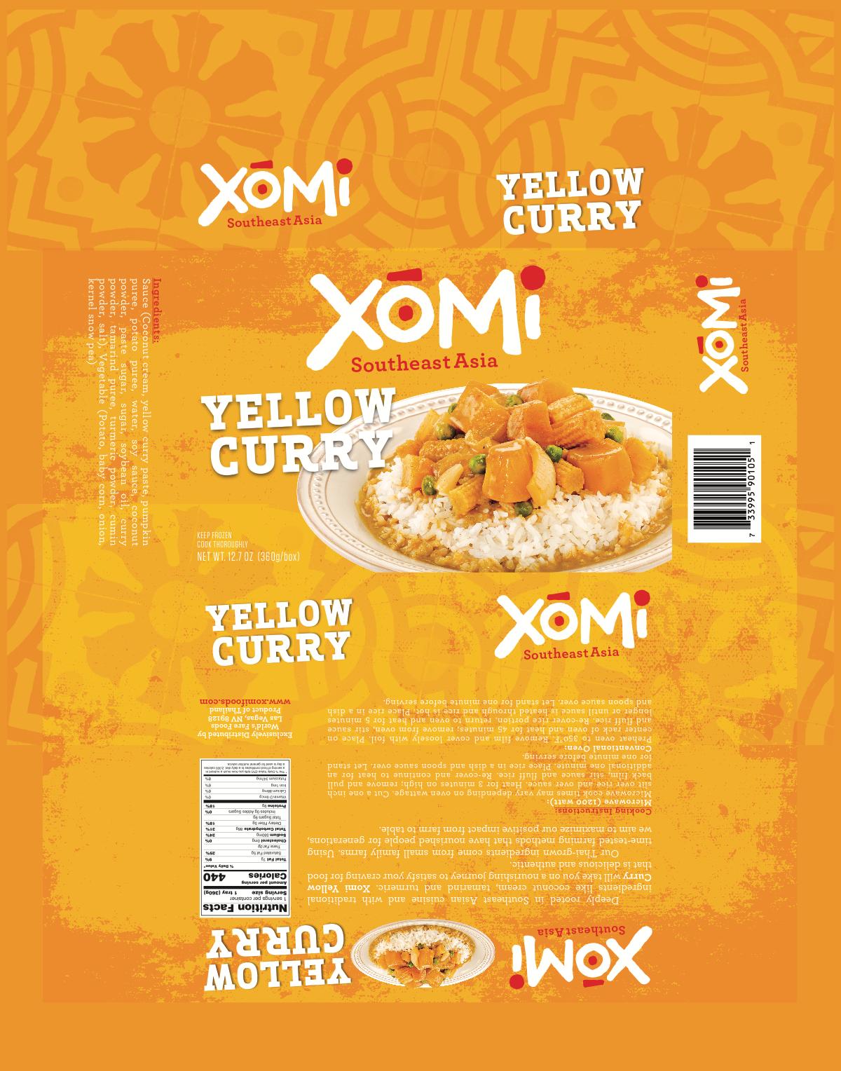 Xomi Frozen Meals Packaging