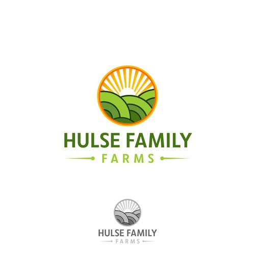 Create a clear concise design four a growing family farm.