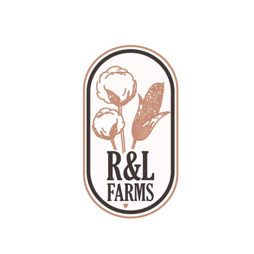 Organic logo for a cotton and corn growing farm.