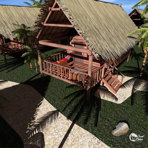 Tropical Resort Cabanas