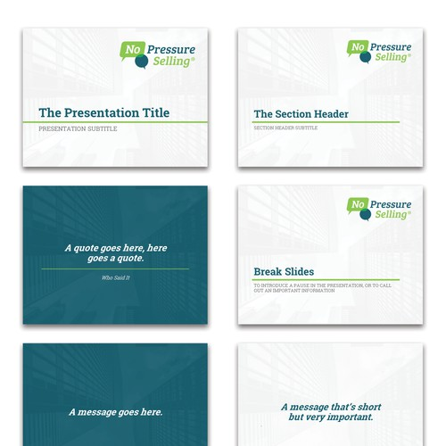Simple and professional Powerpoint design concept for a training organization