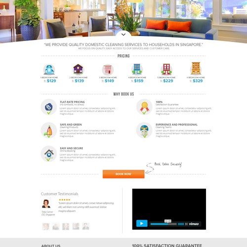 Create a website for the best home cleaning company in Singapore
