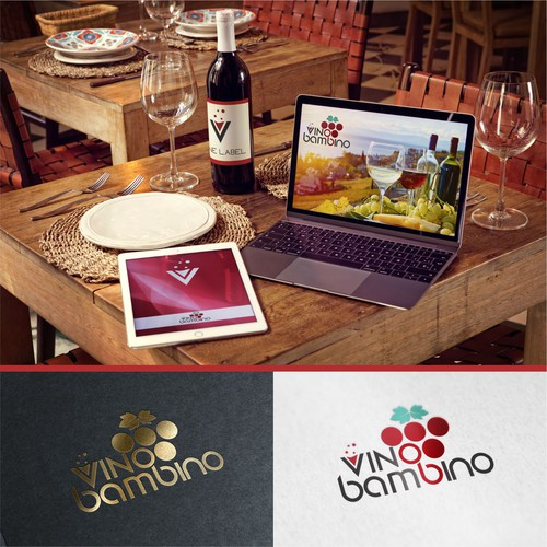 "Winning Design Logo for Wine Company ""Vino Bambino"""