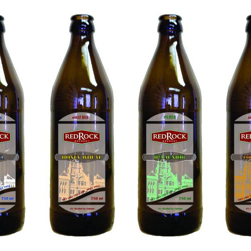 Beer Label for Red Rock Brewery