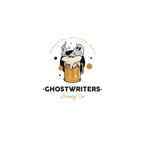 Ghostwriters - Brewing Company Logo design