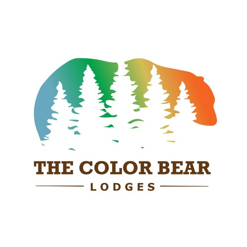 Colourful logo for a Lodge in Big Bear Lake