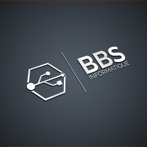 Abstract Logo concept for BBS Informatique