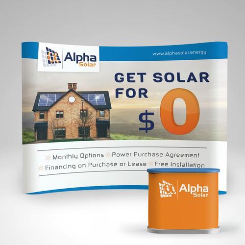 Alpha Solar trade show booth