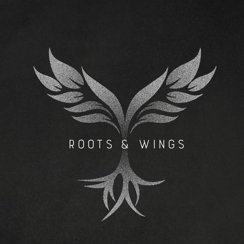 Abstract wings and roots using stipple technique
