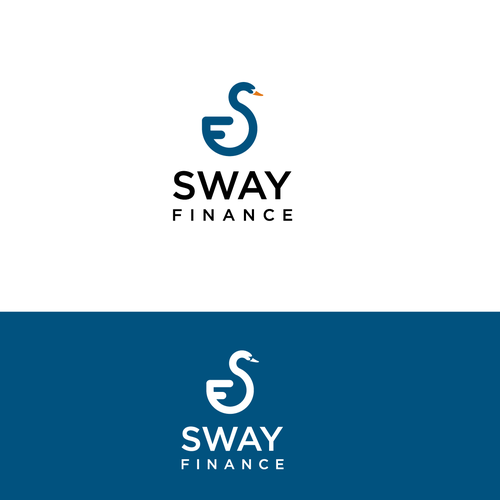 Finance company initials making swan shape