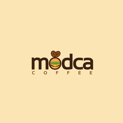 logo concept for modca coffee
