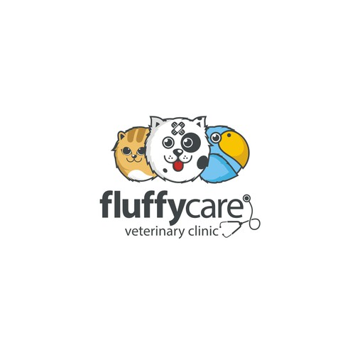 Logo concept for fluffycare