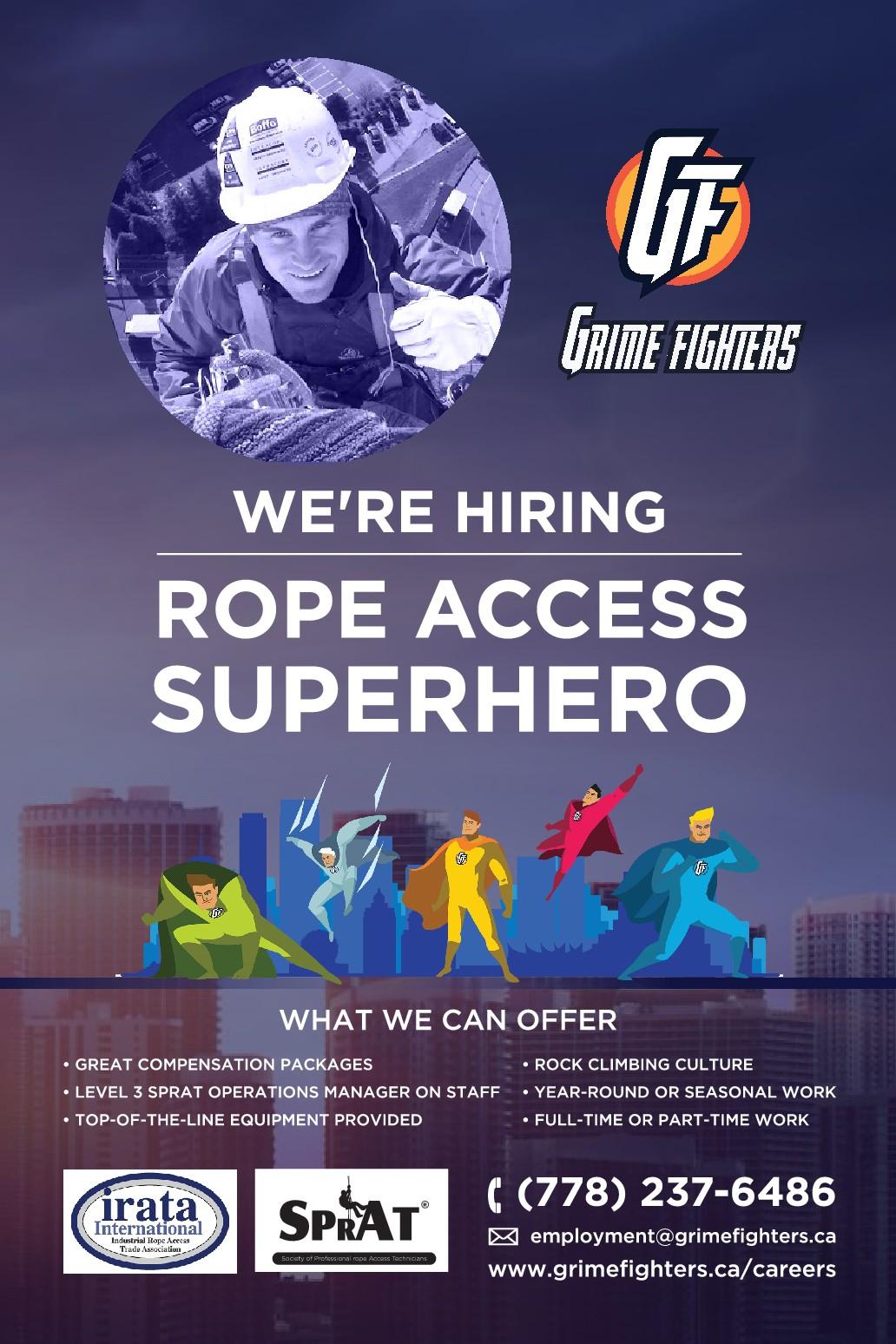 "Superheroic ""We're Hiring"" Poster"