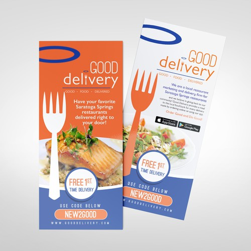 Rack Card for Food Delivery Company