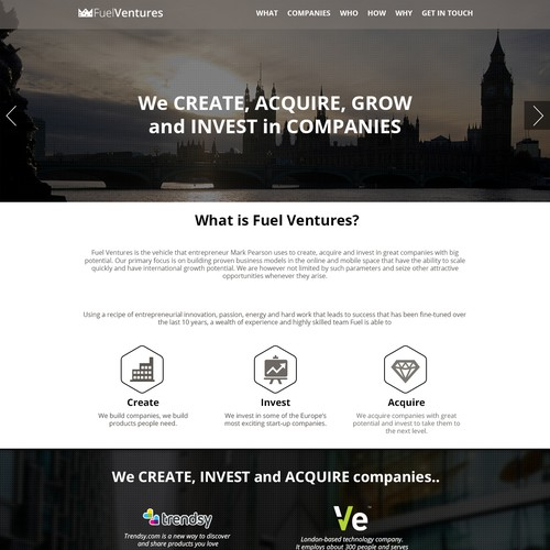 Website Design for Ventures Business