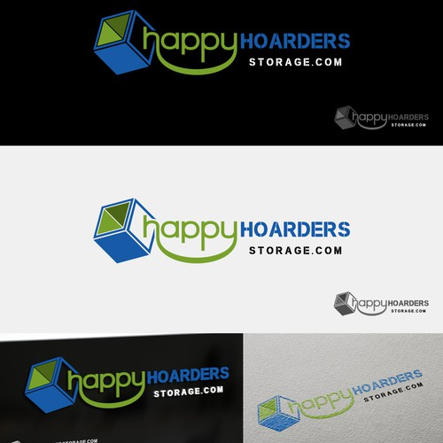 Simple logo for Happy Hoarder Storage
