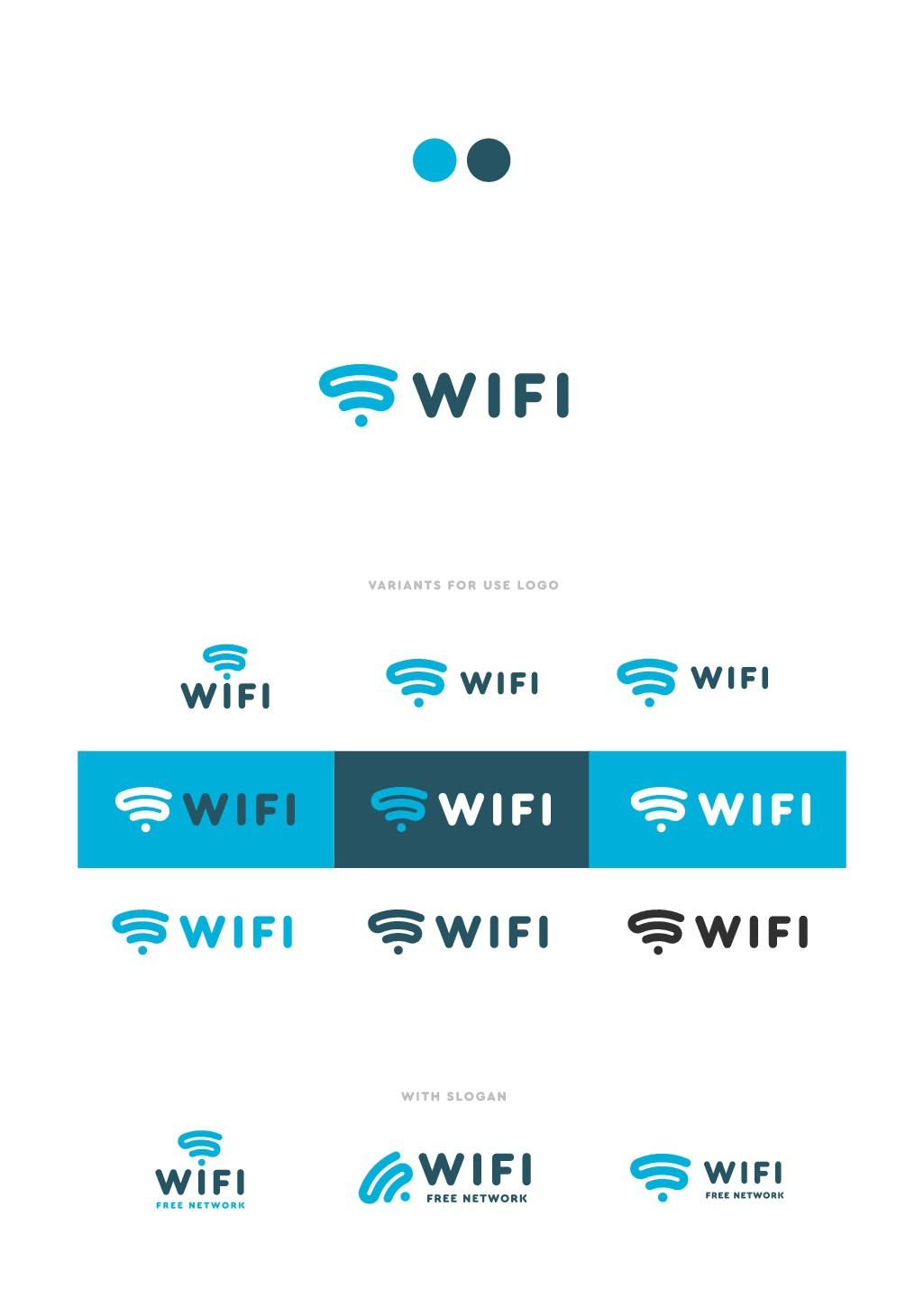 create awesome logo for a public wifi service