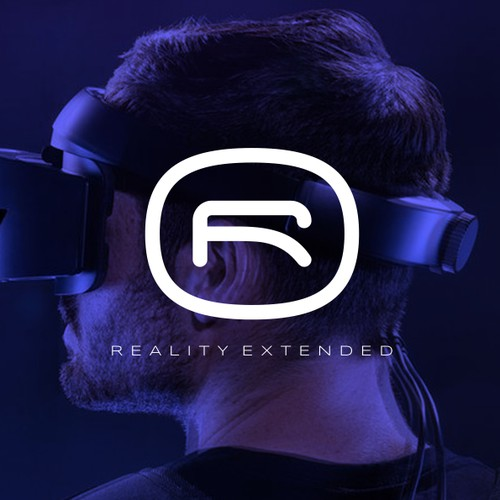 Bold logo for VR company
