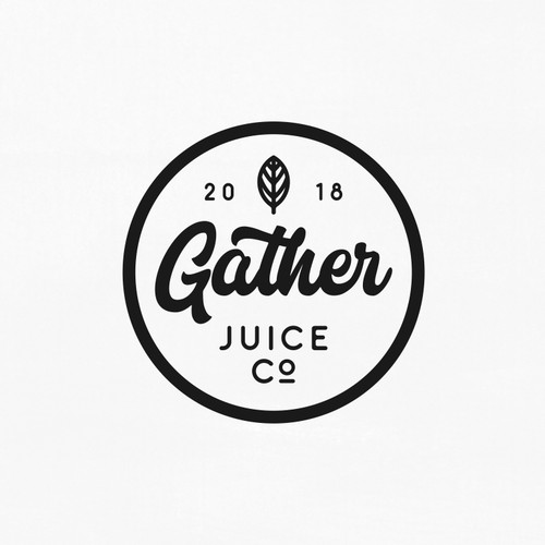 Hand Lettering Logo for Gather Juice co