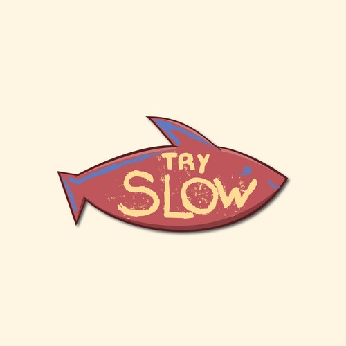 A colorful hipster logo for the slow living movement