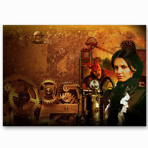Art for book cover-Steam punk/ thriller