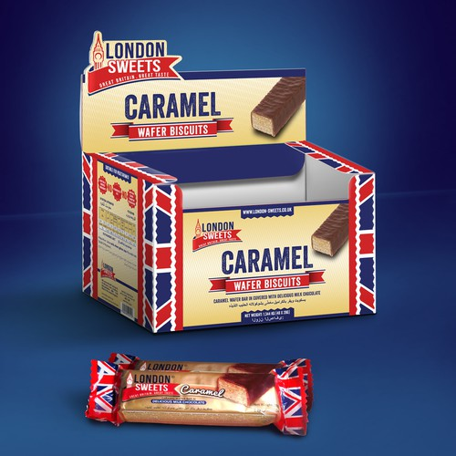 CARAMEL WAFER DISPLAY BOX