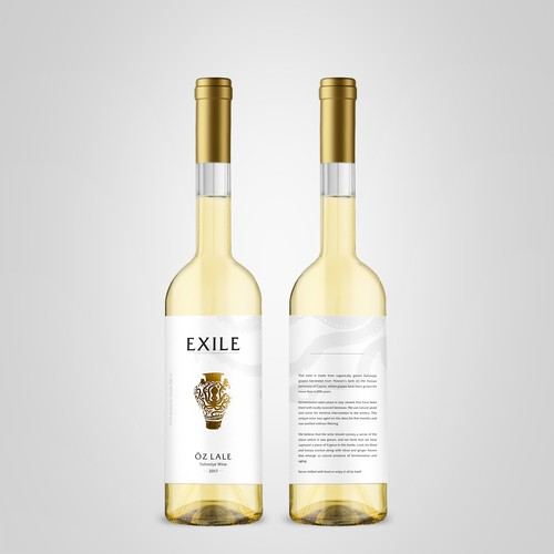 Exile wine label design