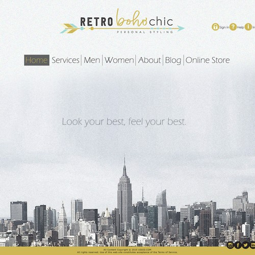 RetroBohoChic Website